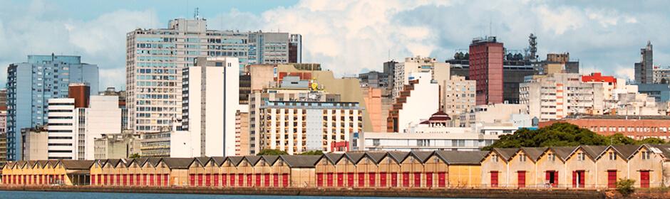 FOTO: imagem panorâmica da cidade de Porto Alegre