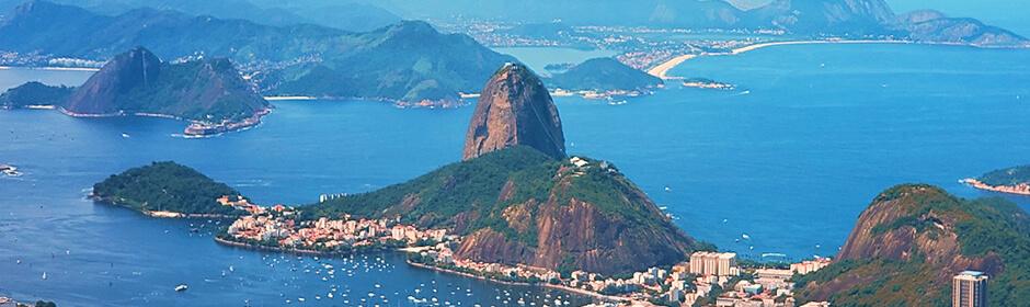 FOTO: imagem panorâmica do Rio de Janeiro com vista para o Pão de Açucar